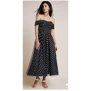 Shoshanna  Maraki Off The Shoulder Midi Dress